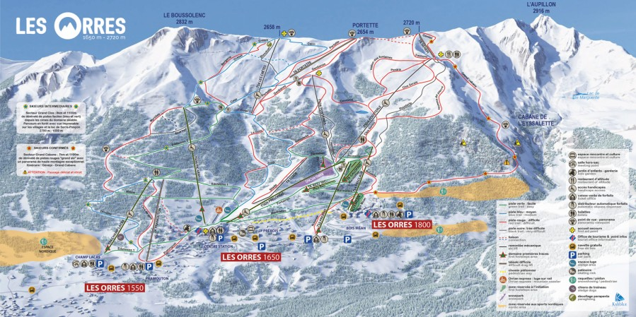 Les Orres Ski Map Your playground